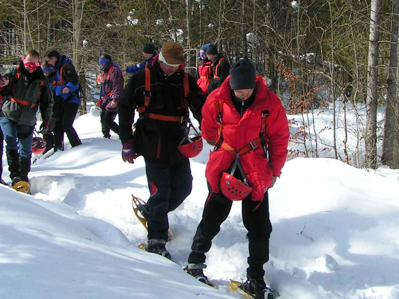 Outdoor-Training für Unternehmen im Winter, Team Events